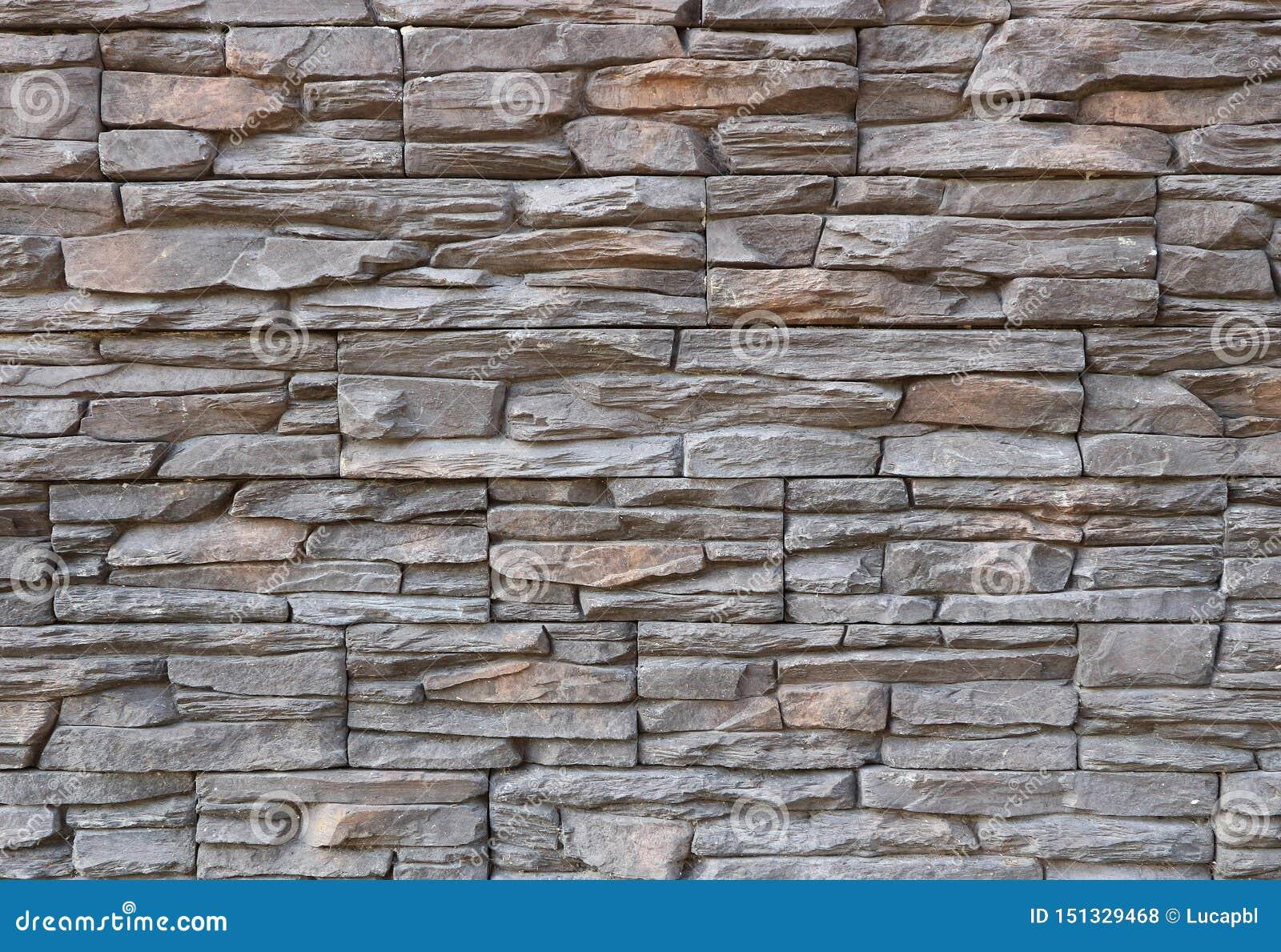 Revetement Mur Exterieur Pierre revêtement gris-foncé et brun de mur extérieur fait de
