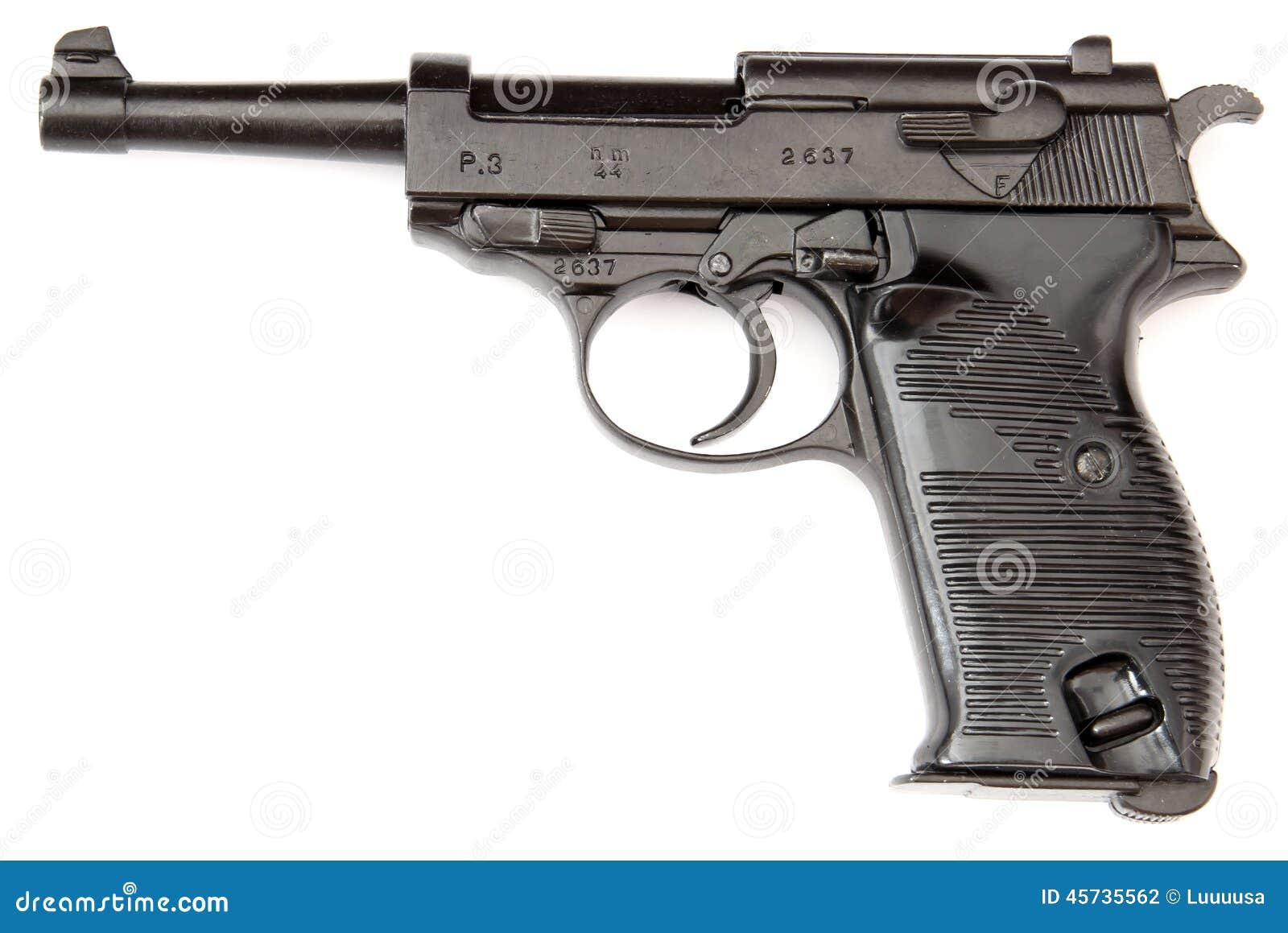 Revólver do preto de Walther