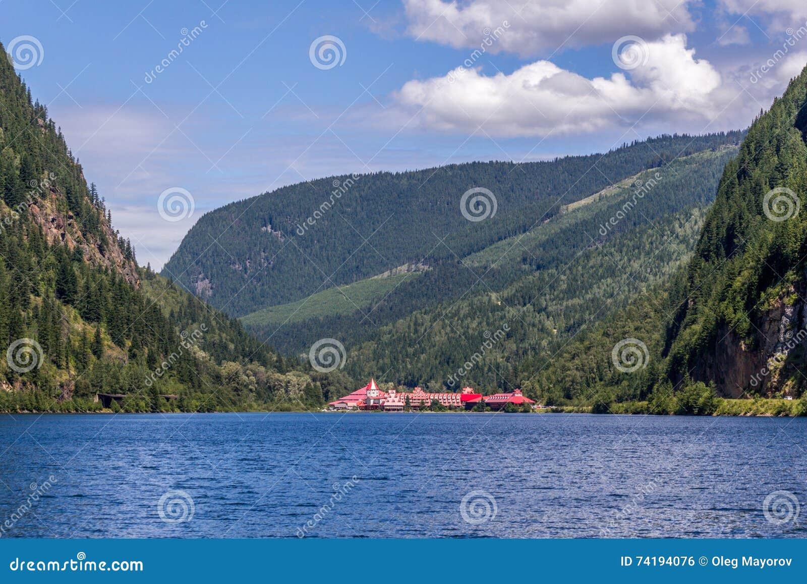 Revelstoke, Canada- July 2, 2016. Three Valley Gap Chateau