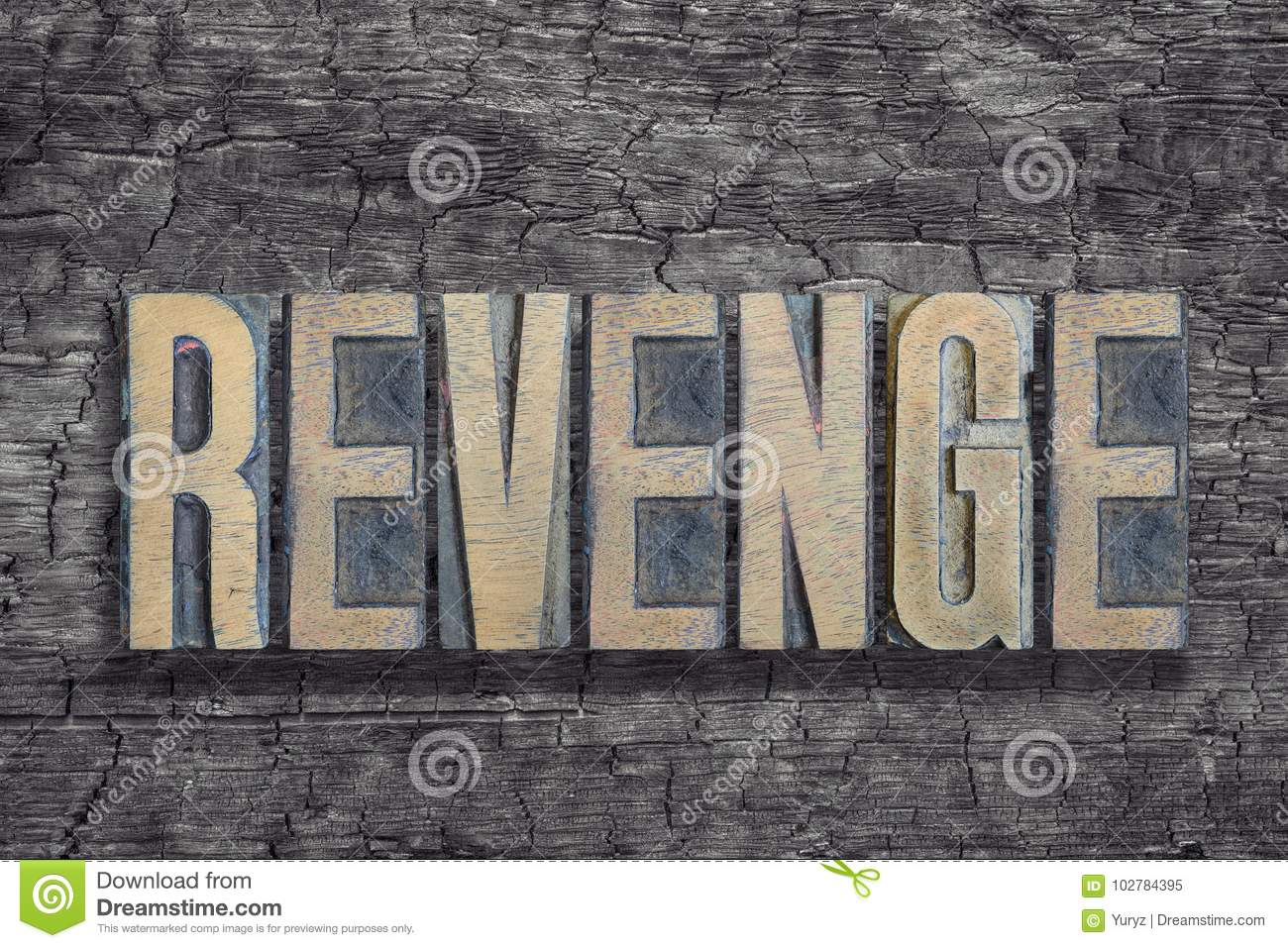 Revenge -realistic neon sign on brick wall background 3d.