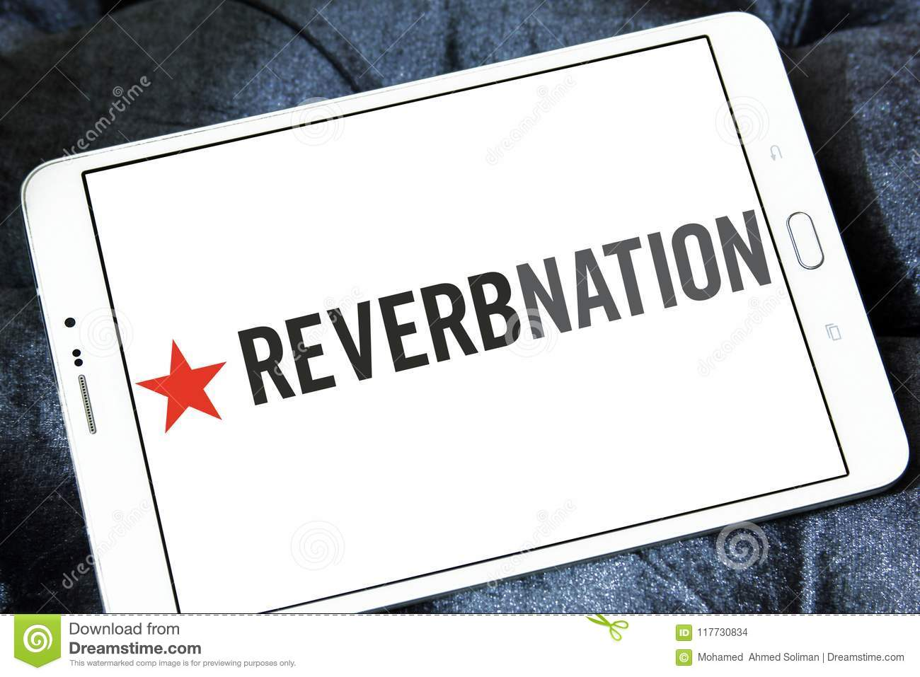 Reverbnation music platform logo editorial stock photo image of.