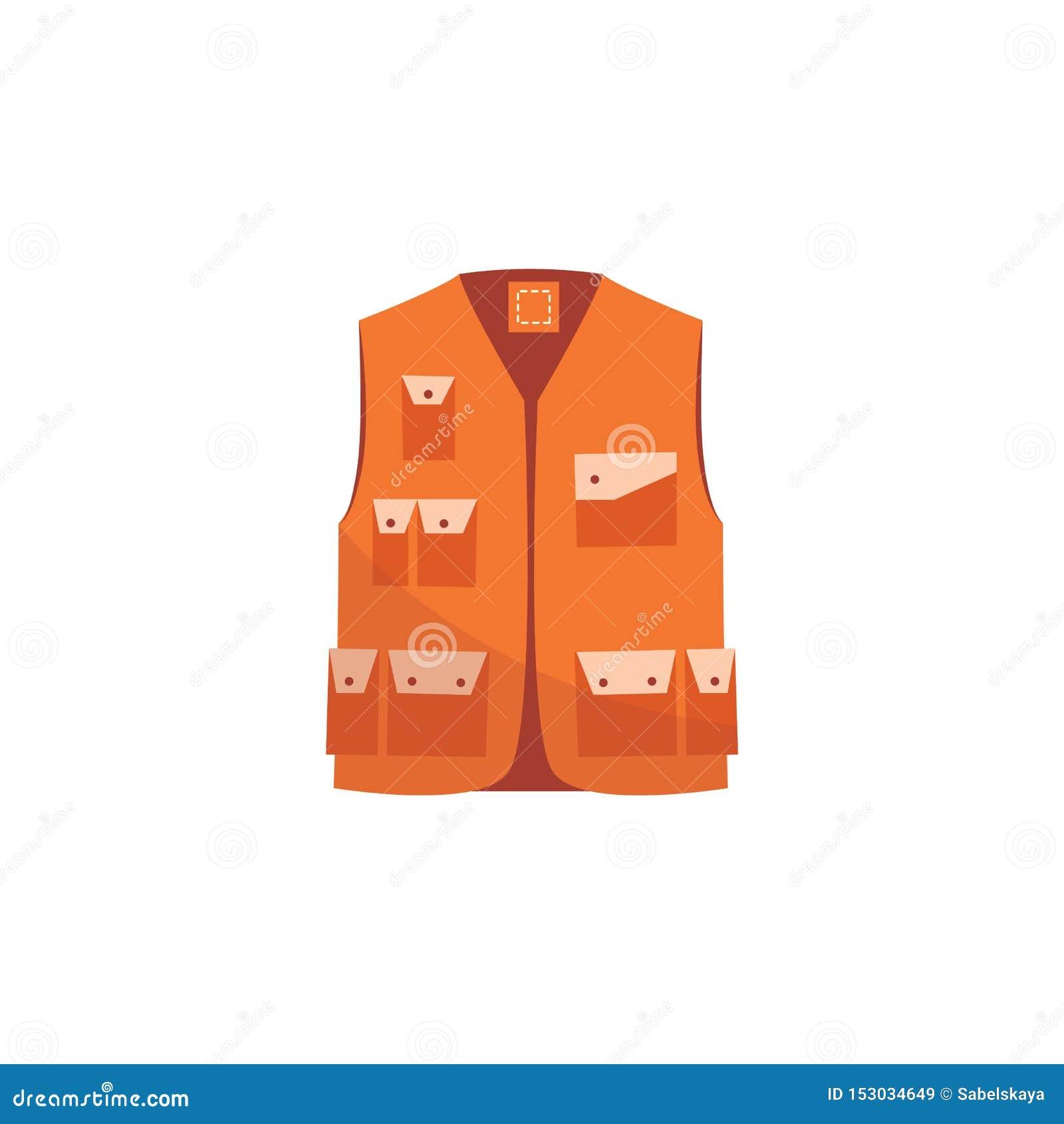 Revestimento alaranjado da segurança, veste uniforme do trabalho reflexivo para a visibilidade do trabalhador