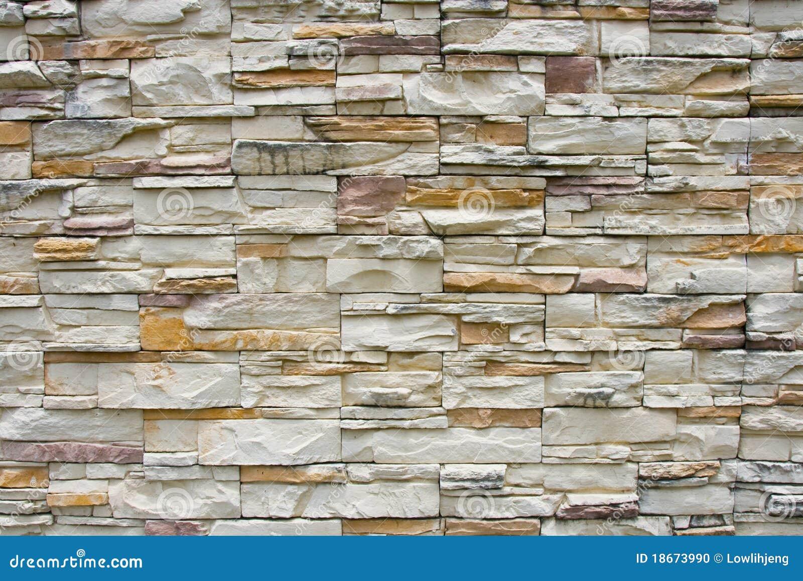 Revestimiento de la pared de piedra foto de archivo imagen 18673990 - Revestimientos de paredes imitacion piedra ...