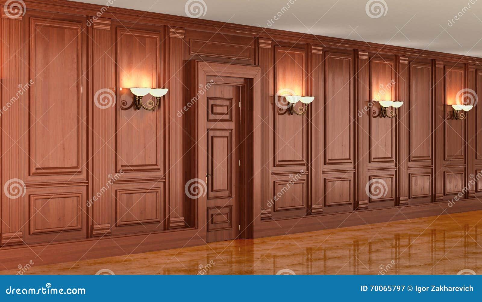 Revestimiento de madera de madera en el interior imagen de for Planchas para revestimiento interior