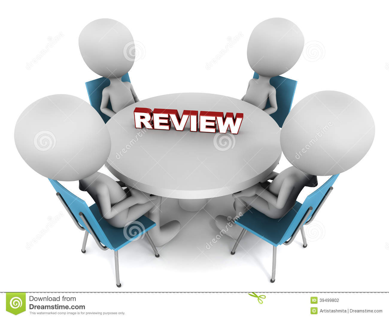 Review Of Artist Design : Review meeting stock illustration of