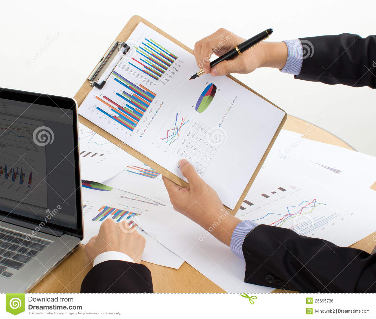 Review The Report Stock Photo. Image Of Commerce, Hands
