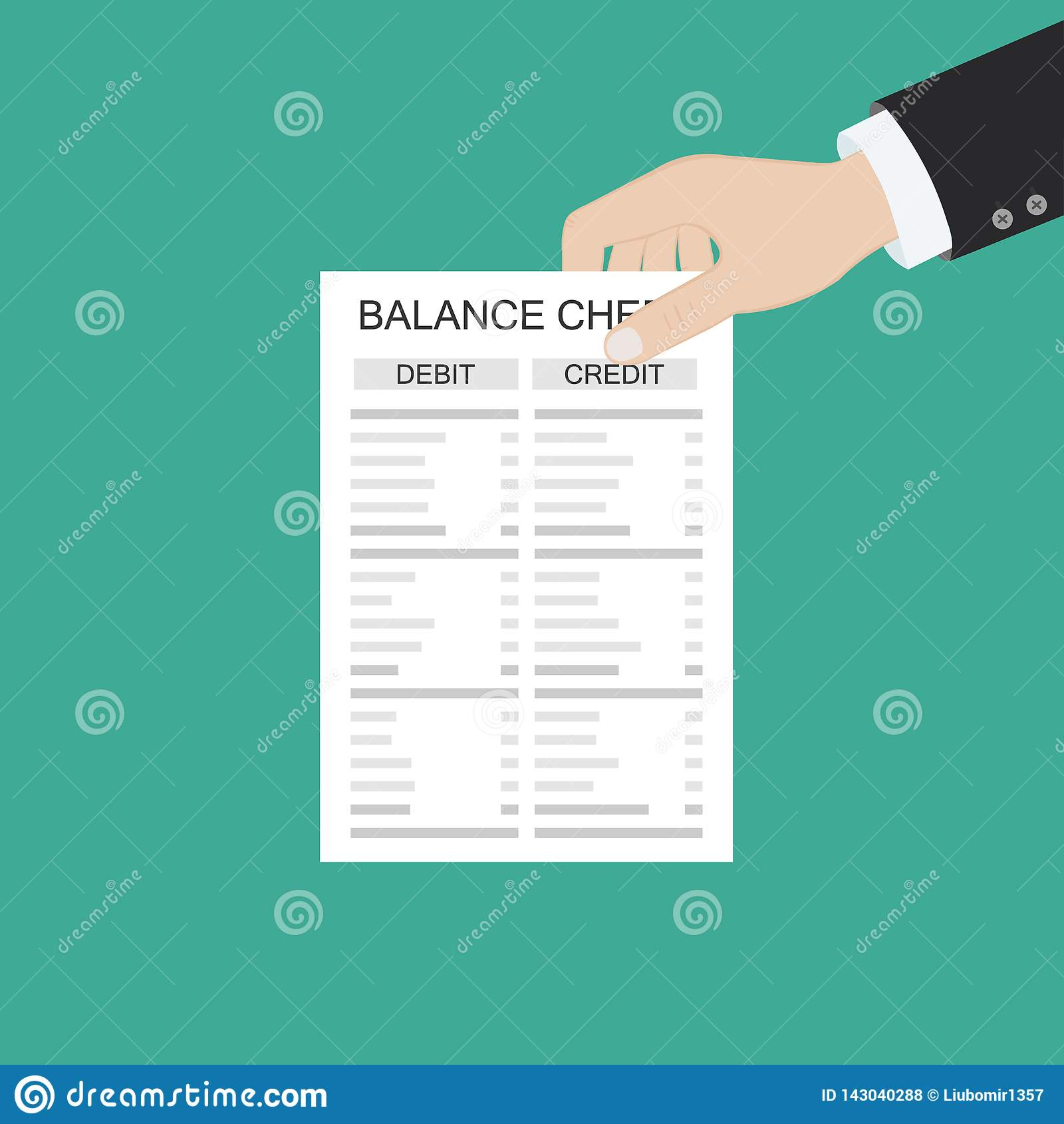 Revisorn med rapporten och en r?knemaskin kontrollerar pengarj?mvikt Finansiella rapporter meddelande och dokument Redovisning bo