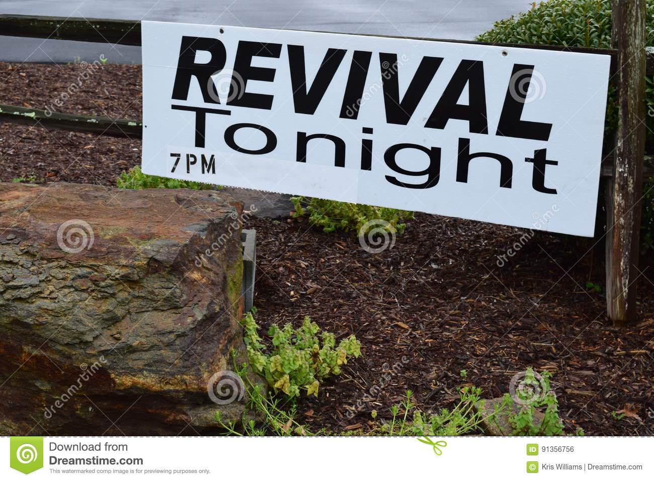 Revival Tonight 7PM Sign
