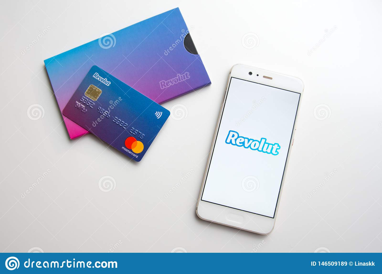Revolut Mobile Digital Bank Cards And Phone With App
