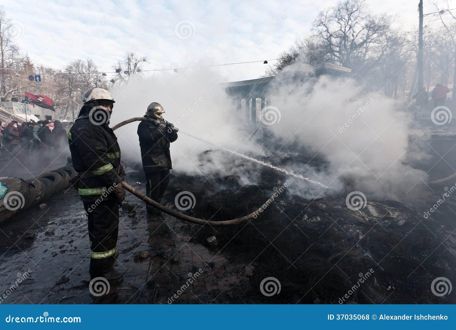 Revolution Ukraine Editorial Stock PhotoUkraine Revolution Fire