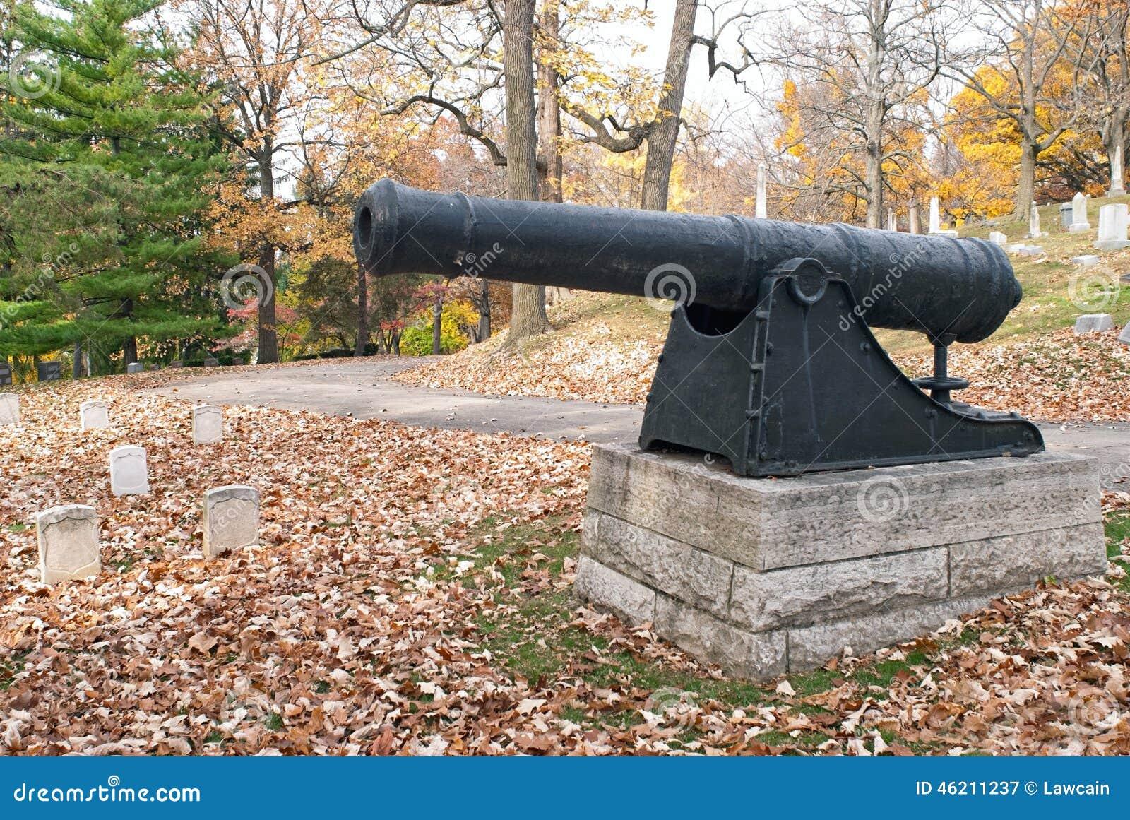 Revolutionary War Cannon in Cemetery