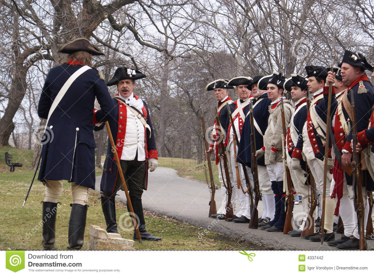 Revolutionary War Reenactment Editorial Photography - Image