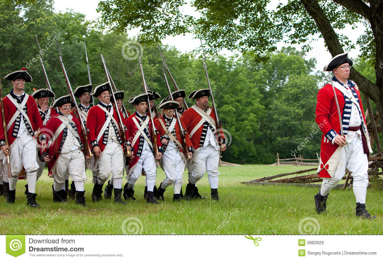 Revolutionary War Reenactment Editorial Stock Image - Image