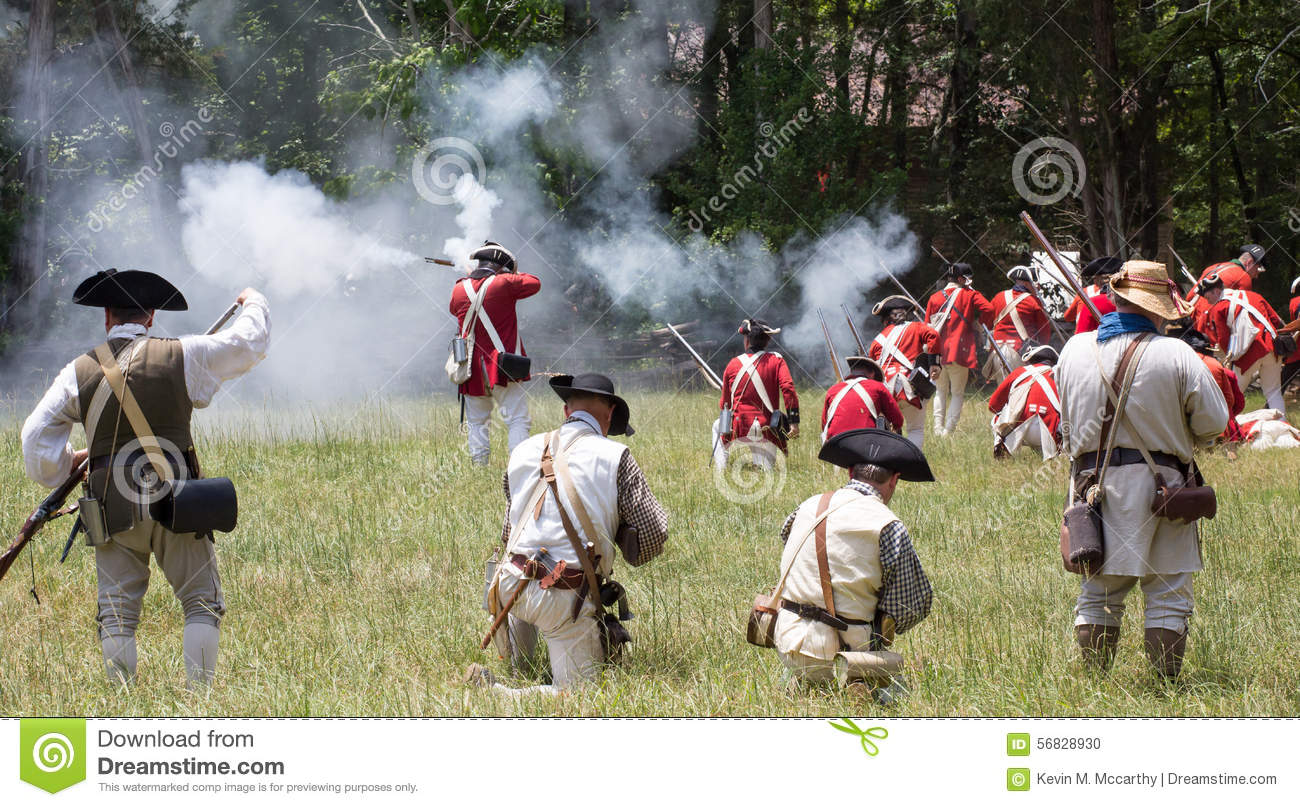 Revolutionary War Reenactment Editorial Image - Image of