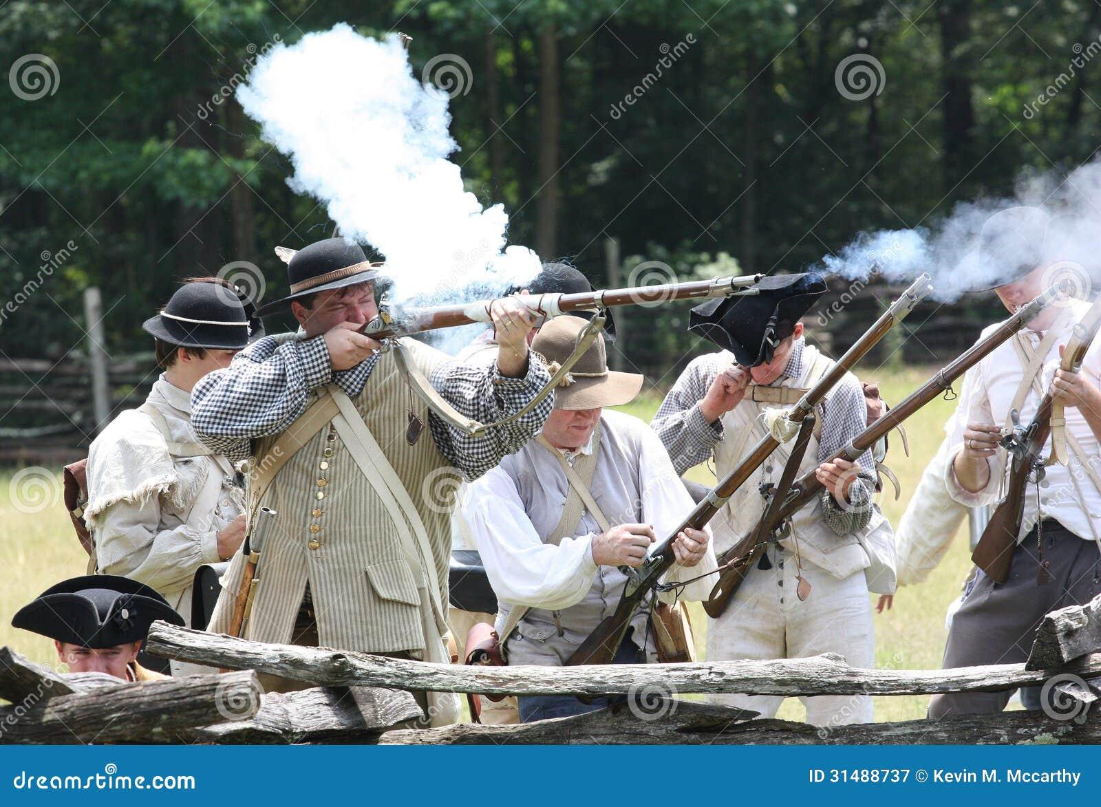 Revolutionary War Reenactment Editorial Photography - Image