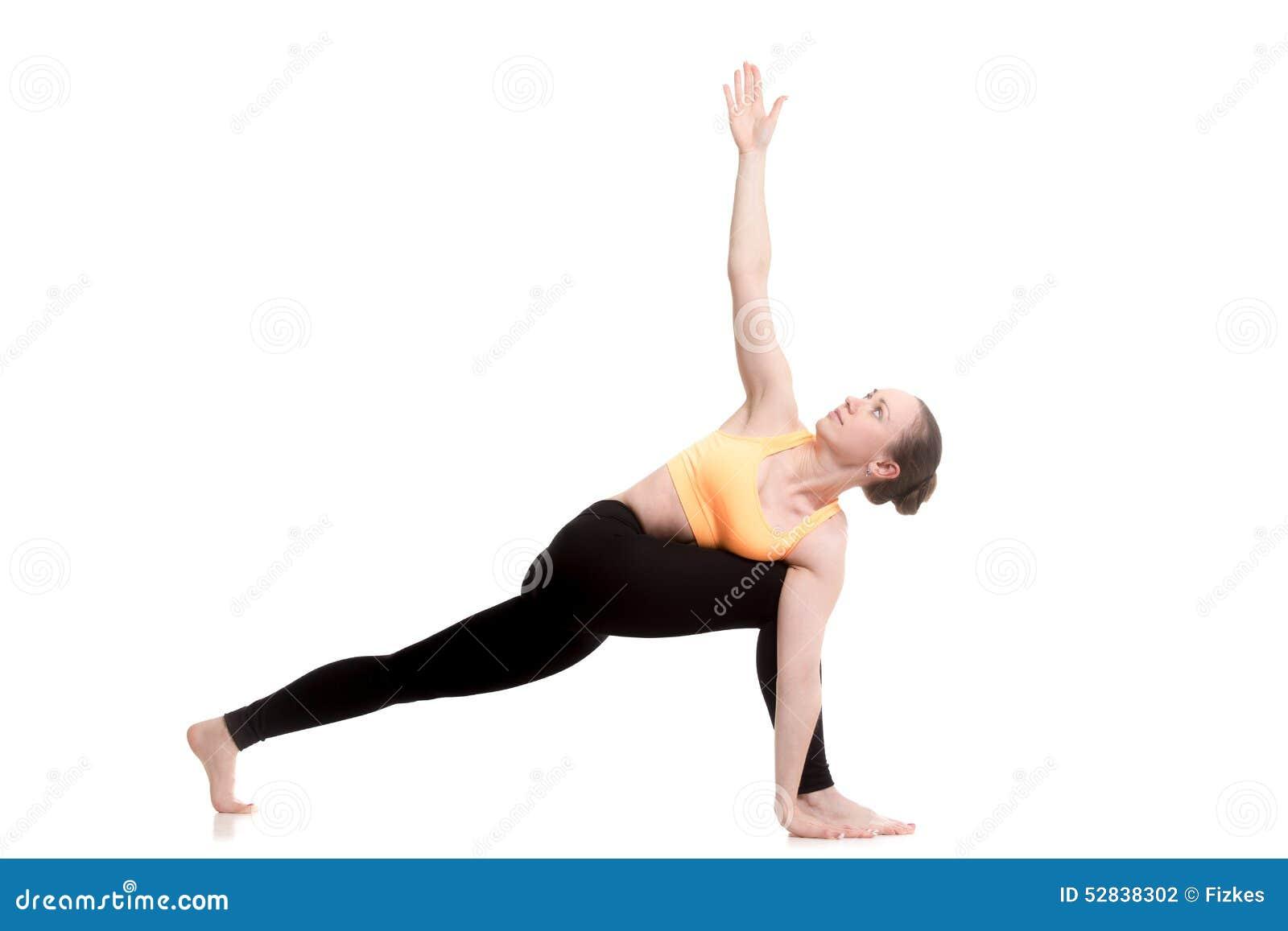 revolved side angle yoga pose stock photo image 52838302