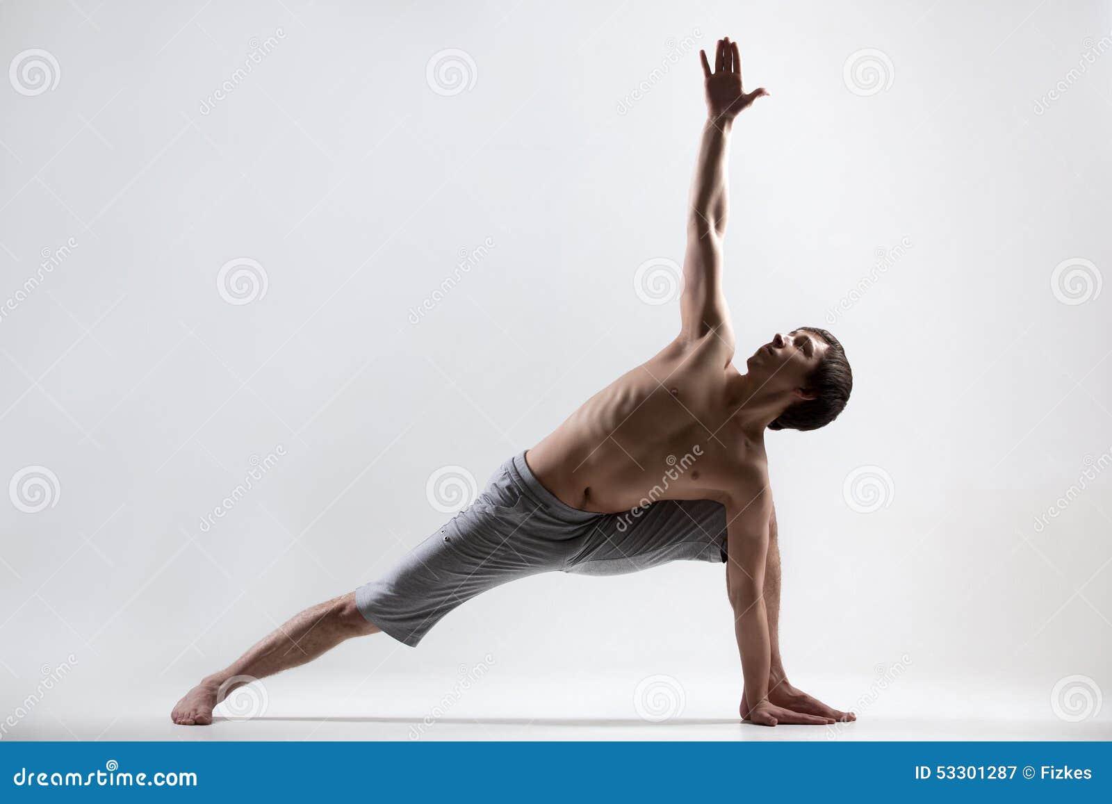 revolved side angle yoga pose stock photo image 53301287