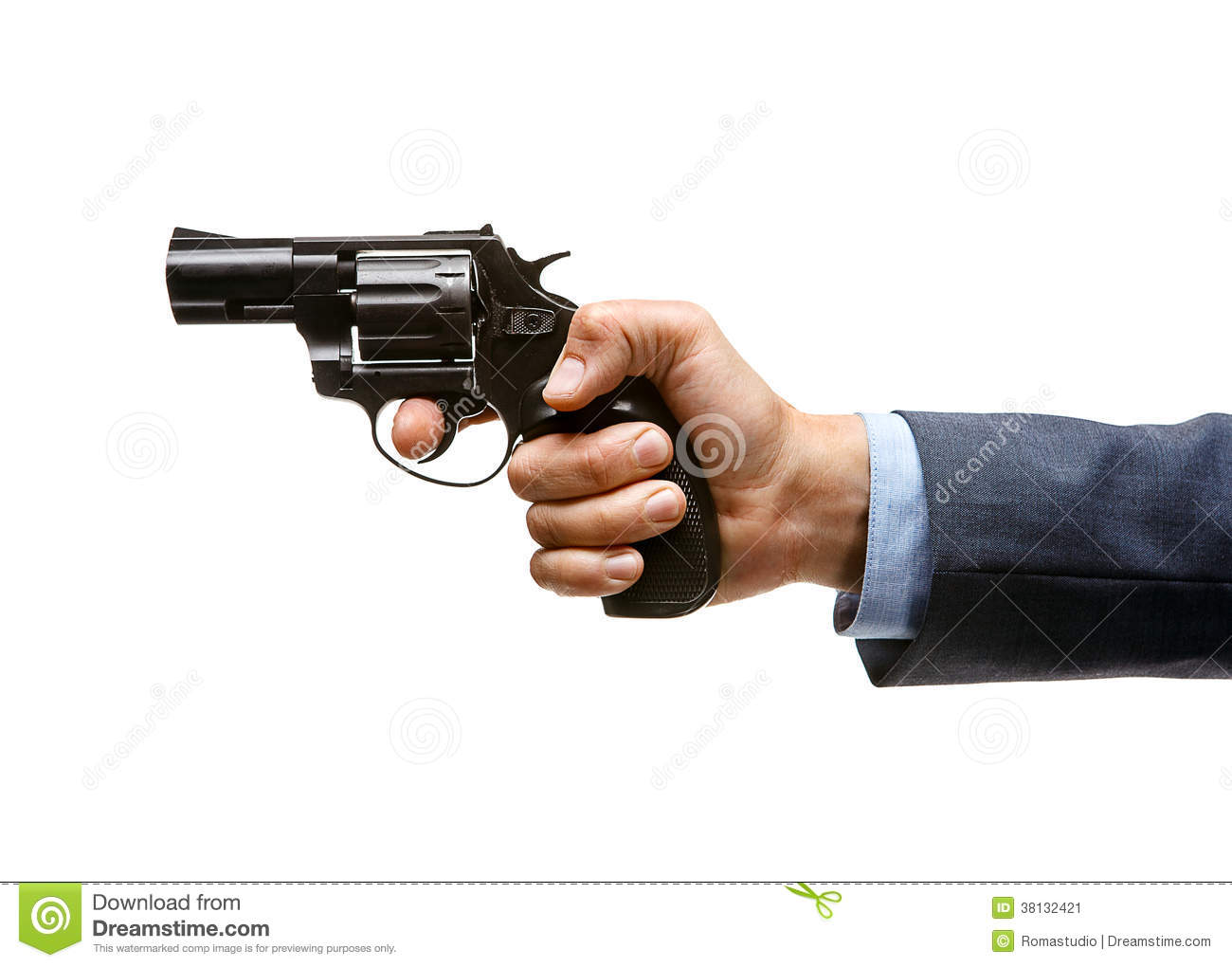 Revolver In Hand Stock Image - Image: 38132421
