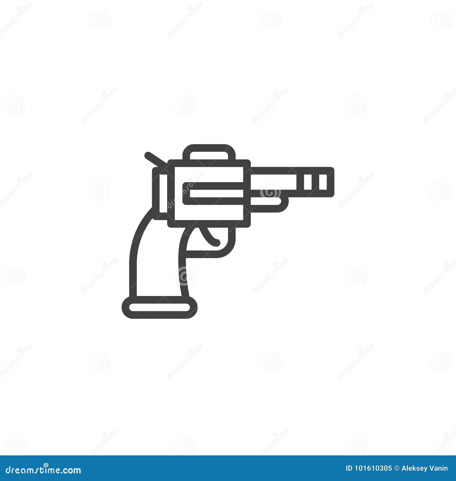 Revolver line icon stock vector illustration of pictogram 101610305 revolver line icon buycottarizona