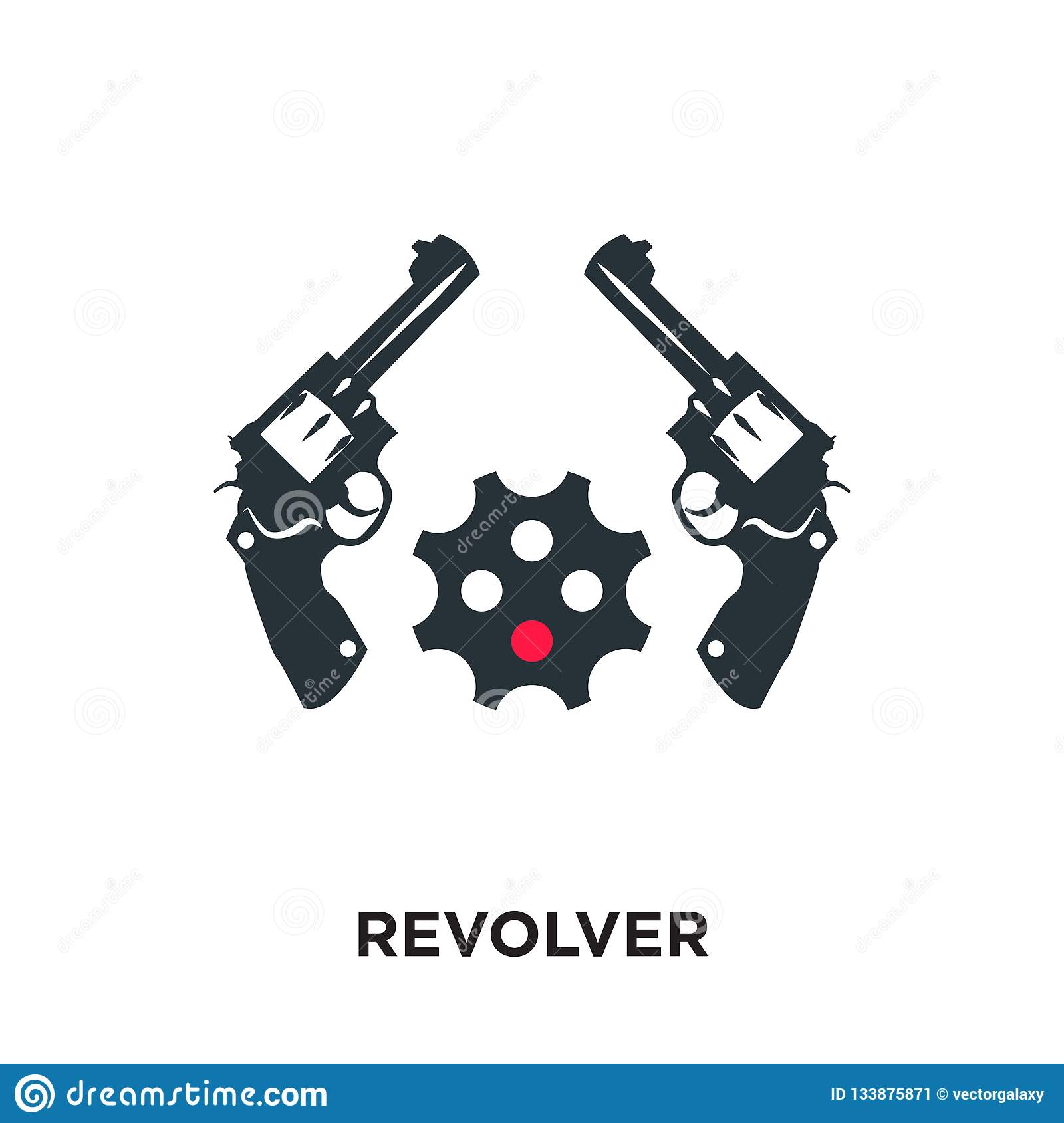 revolver logo isolated on white background for your web, mobile