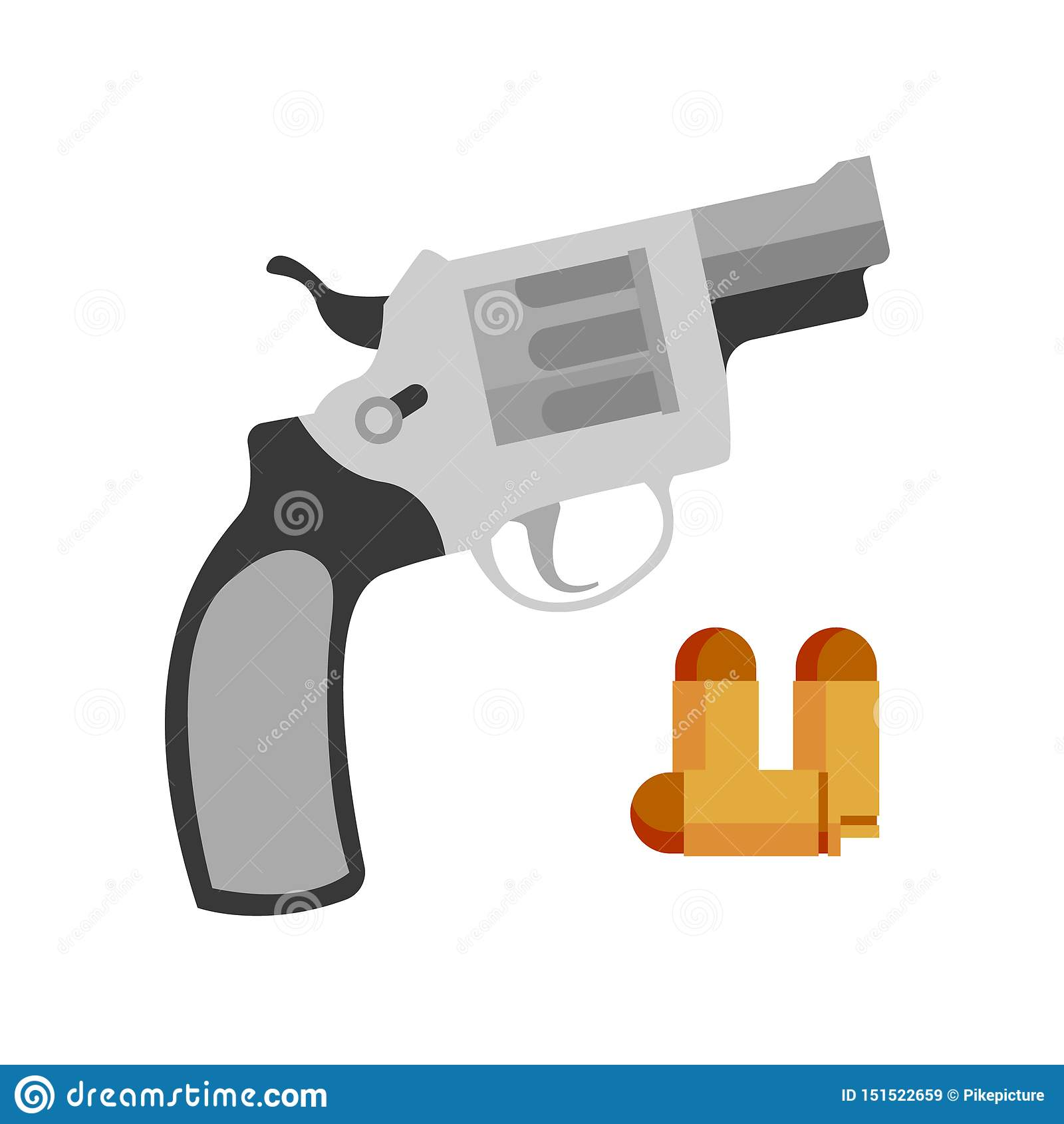 Revolver Nagant de pistolet et vecteur de balle de pistolet