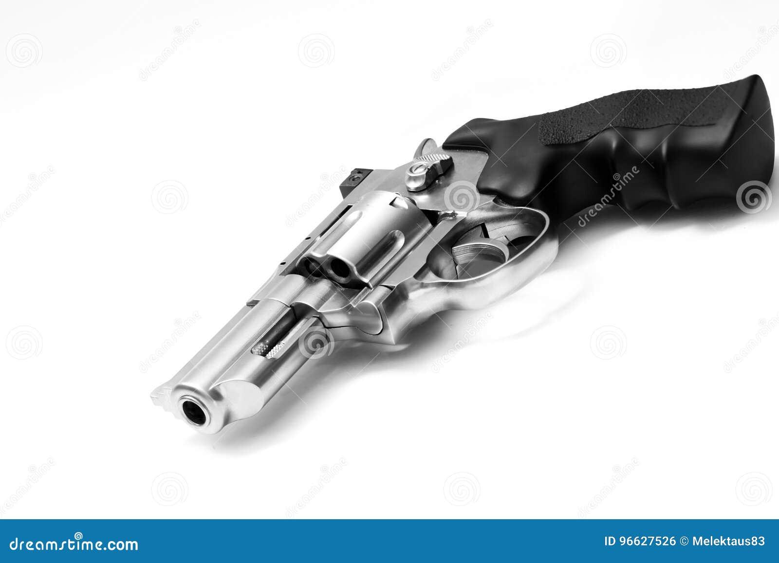 Revolver sur le blanc