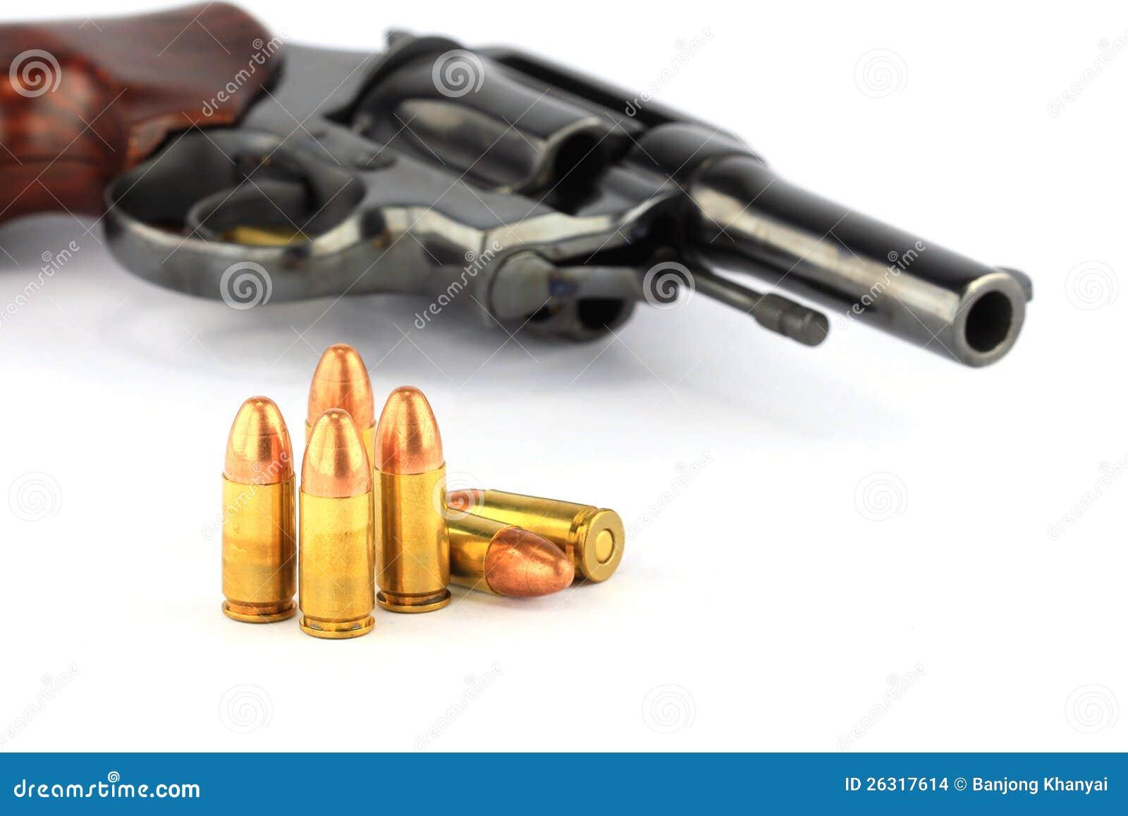 Revolverpistole und -gewehrkugeln