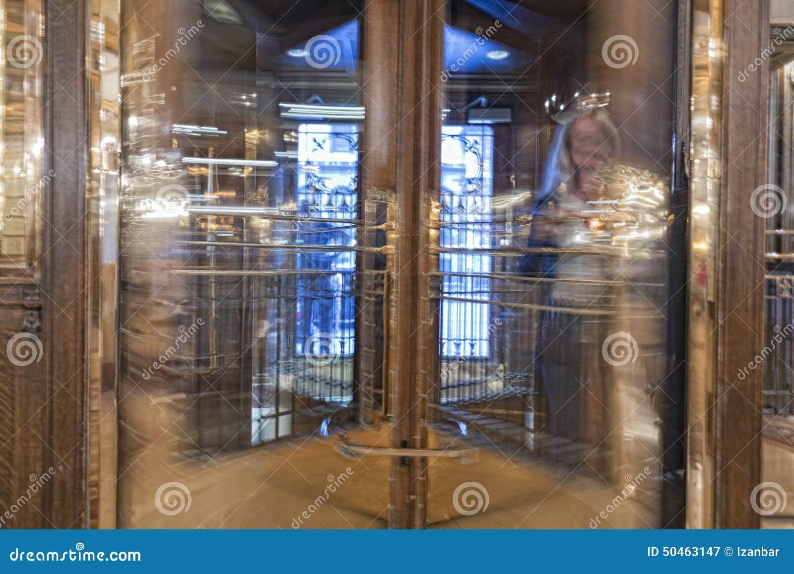 Revolving Door Building Hotel Entrance Stock Image - Image of ...