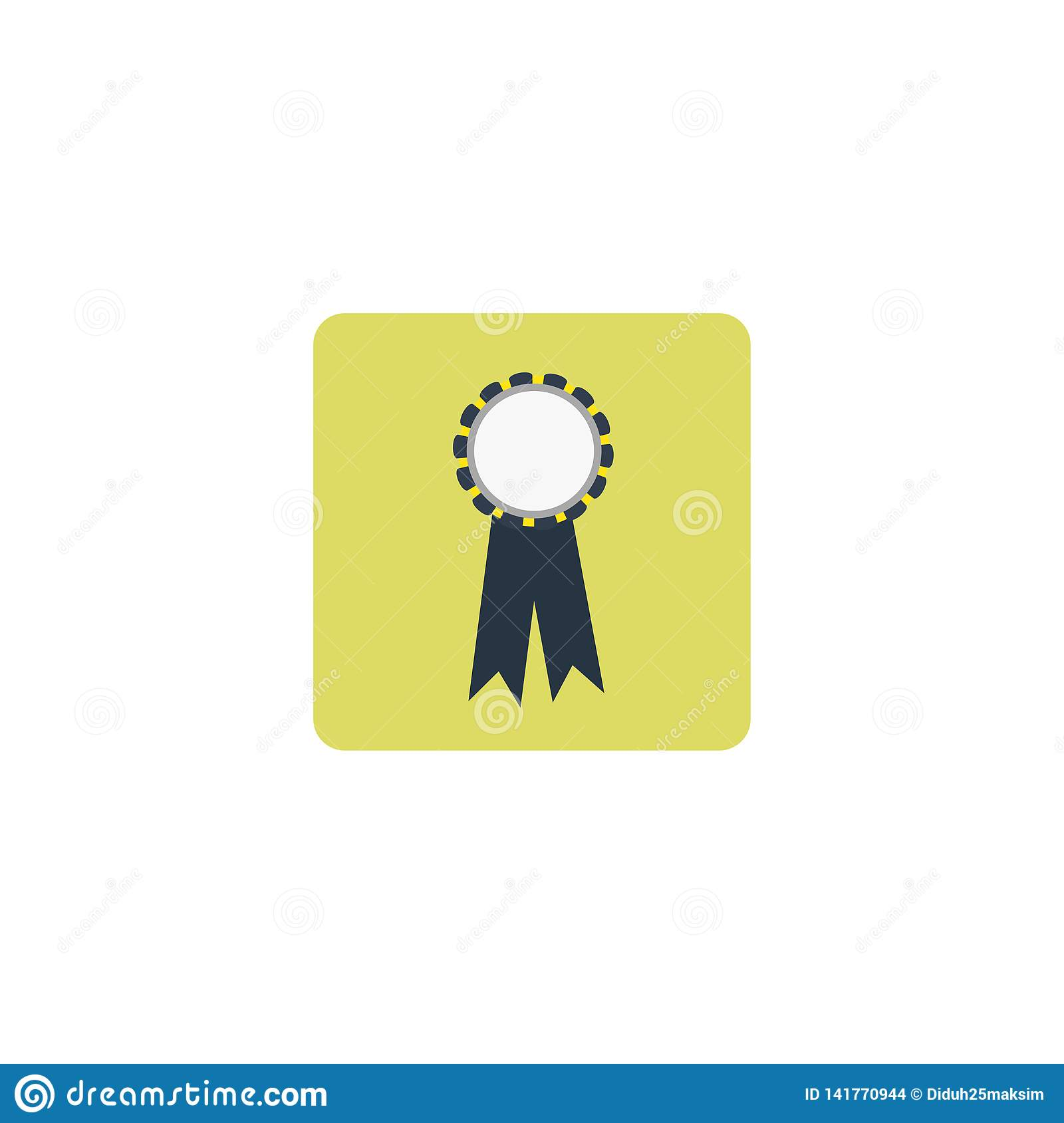 Reward. Badge of the champion. Vector illustration. EPS 10