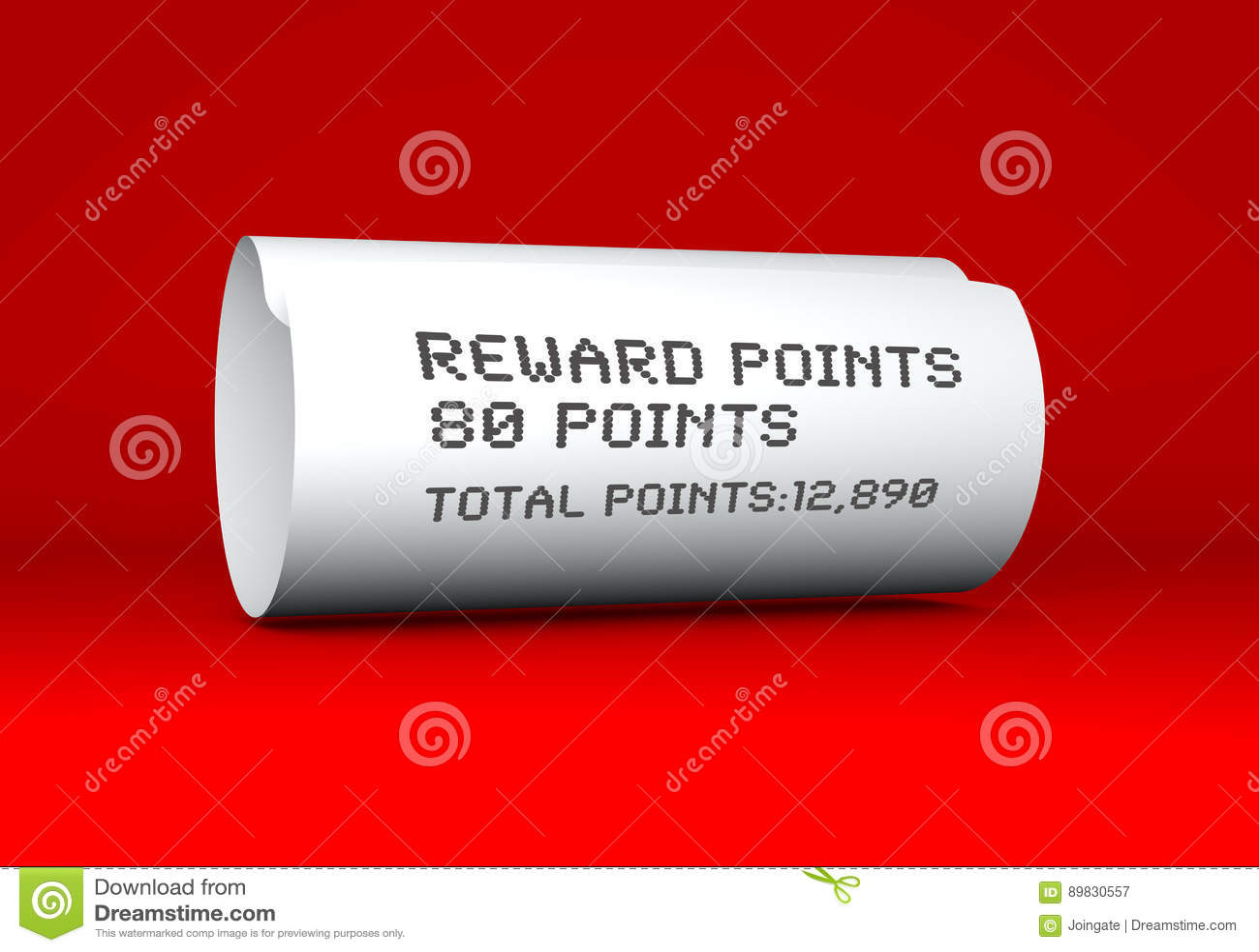 092e6e4b735e Reward Points Receipt For Purchase Stock Illustration - Illustration ...