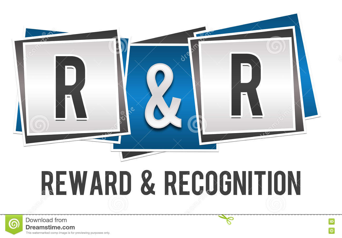 Reward And Recognition Blue Grey Blocks Stock Illustration ...