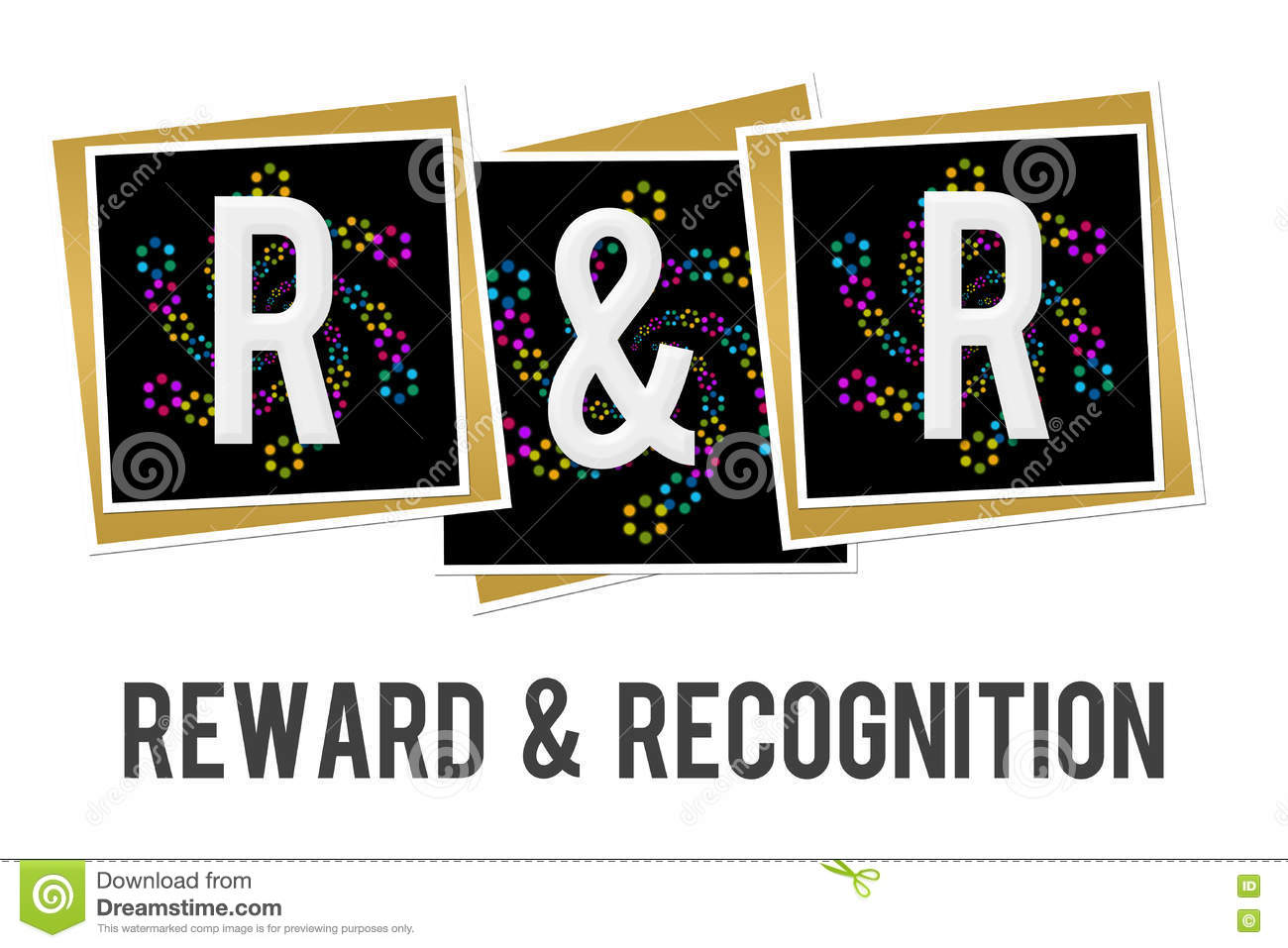 Reward And Recognition Neon Squares Stock Illustration ...