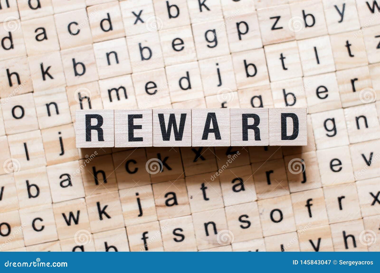 Reward word concept