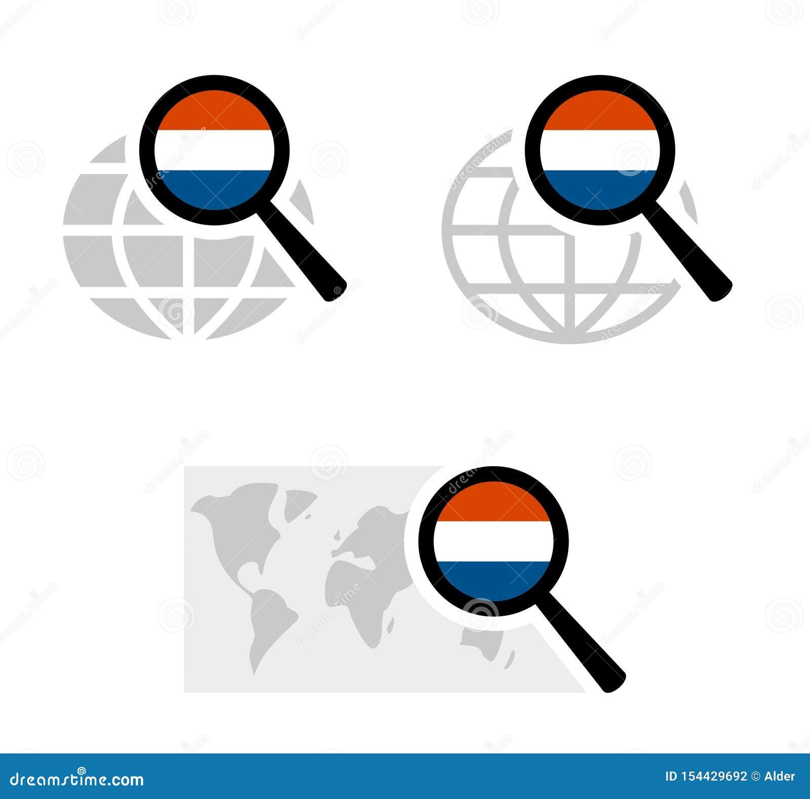 Rewizji ikony z holender flagą