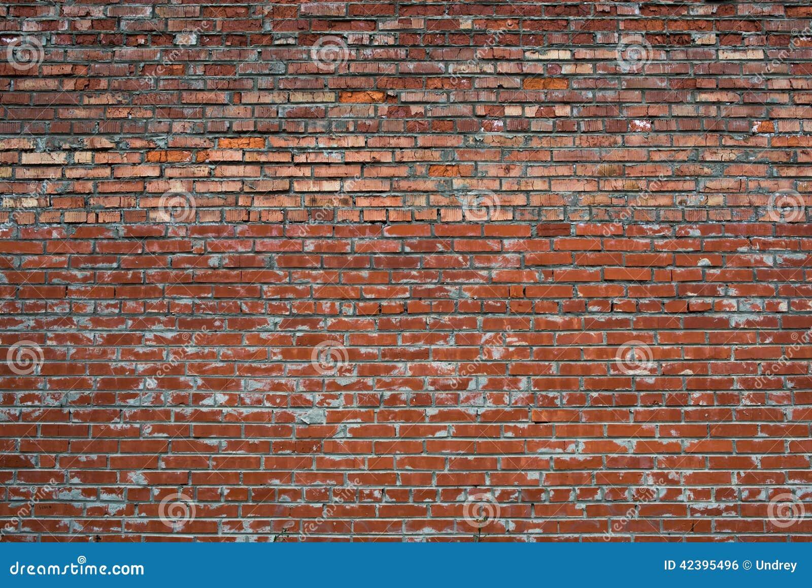 Rewolucjonistka Pękający biały grunge ściana z cegieł textured