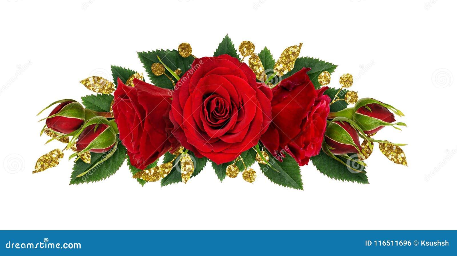 Rewolucjonistki róży kwiaty i błyskotliwość decotations w kwiecistym kreskowym arrangem
