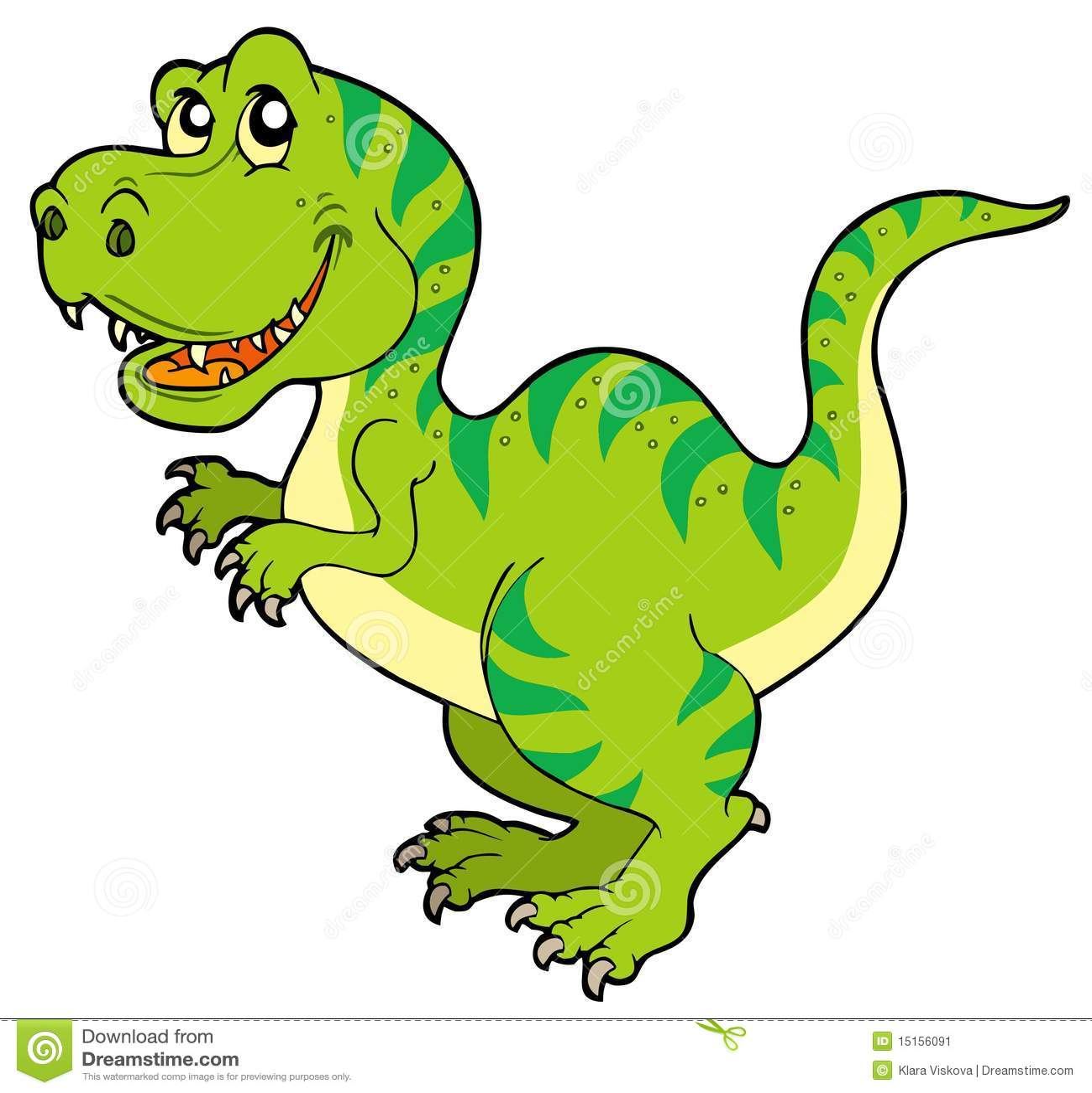 Rex de tyrannosaurus de dessin anim illustration de - Dessin dinosaure t rex ...
