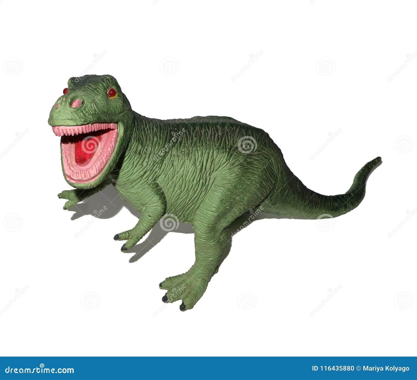 Plastique Sur Dinosaure Fond Rex De Jouet En Blanc Photo Stock Le b76IYfygvm