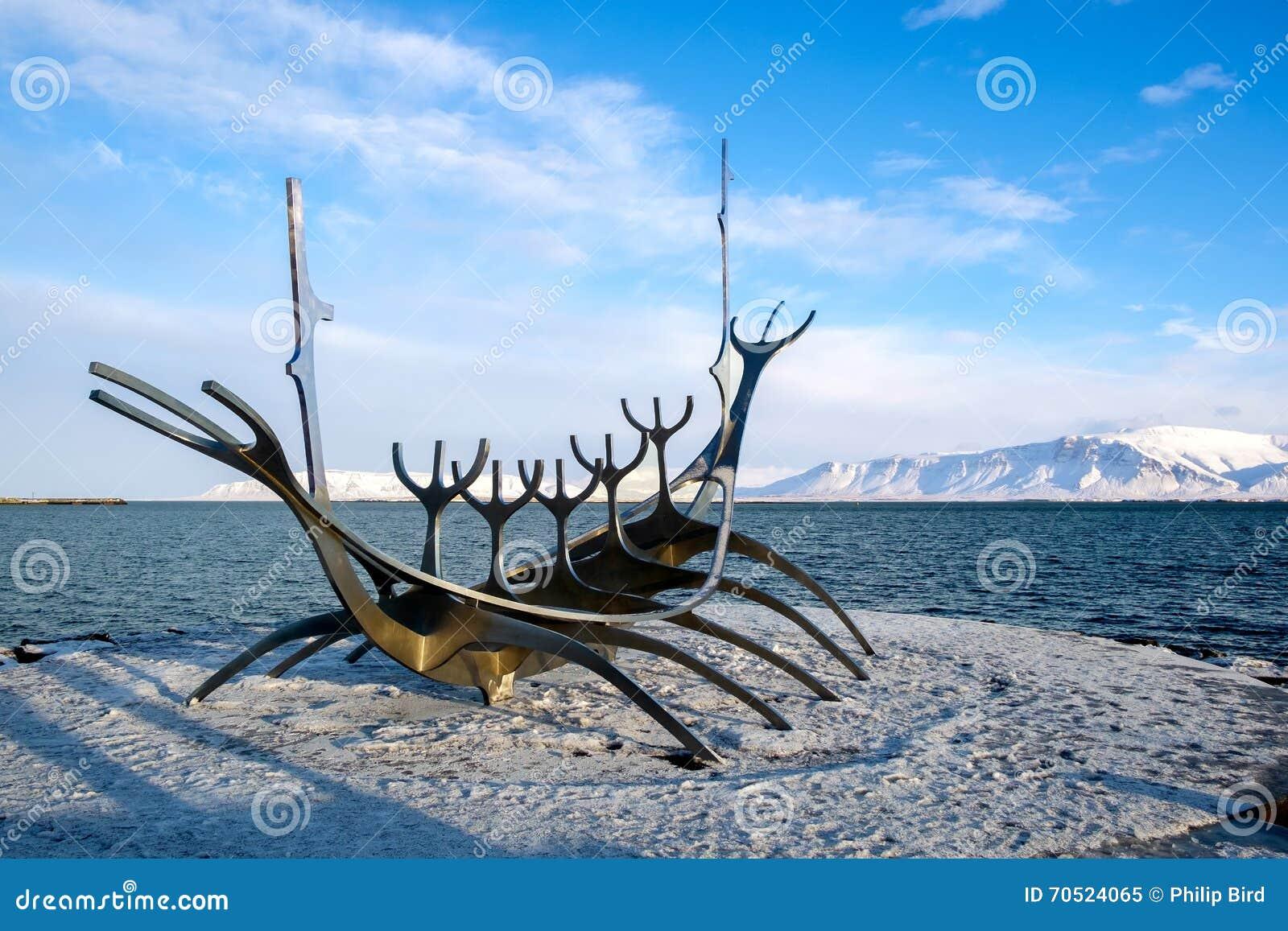 REYKJAVIK/ICELAND - 5. FEBRUAR: Sun-Reisende in Reykjavik Island an