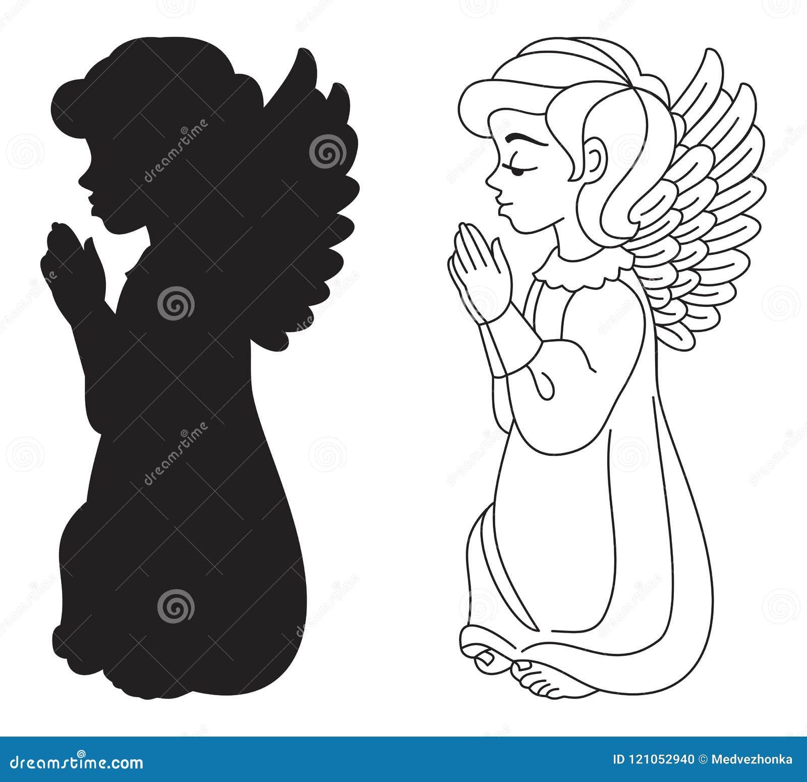 Rezando O Anjo Ilustracao Do Vetor Ilustracao De Arte 121052940