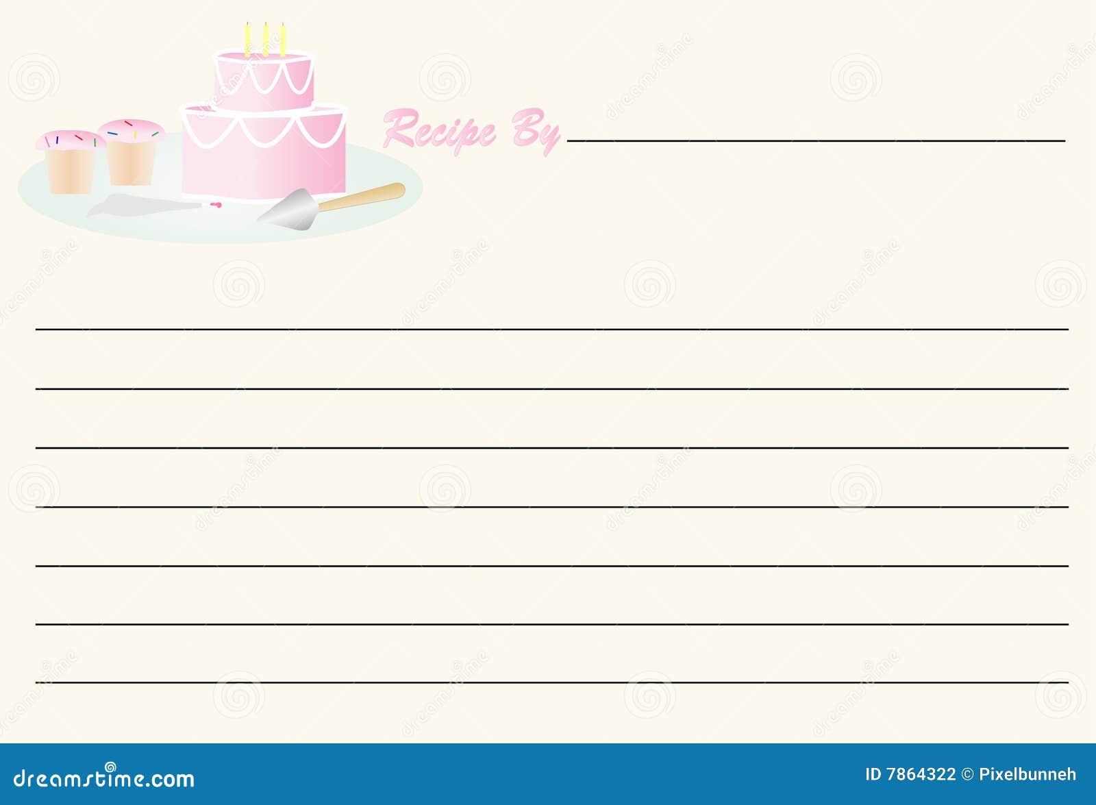 Rezept-Karte - Geburtstag stock abbildung. Illustration von index ...
