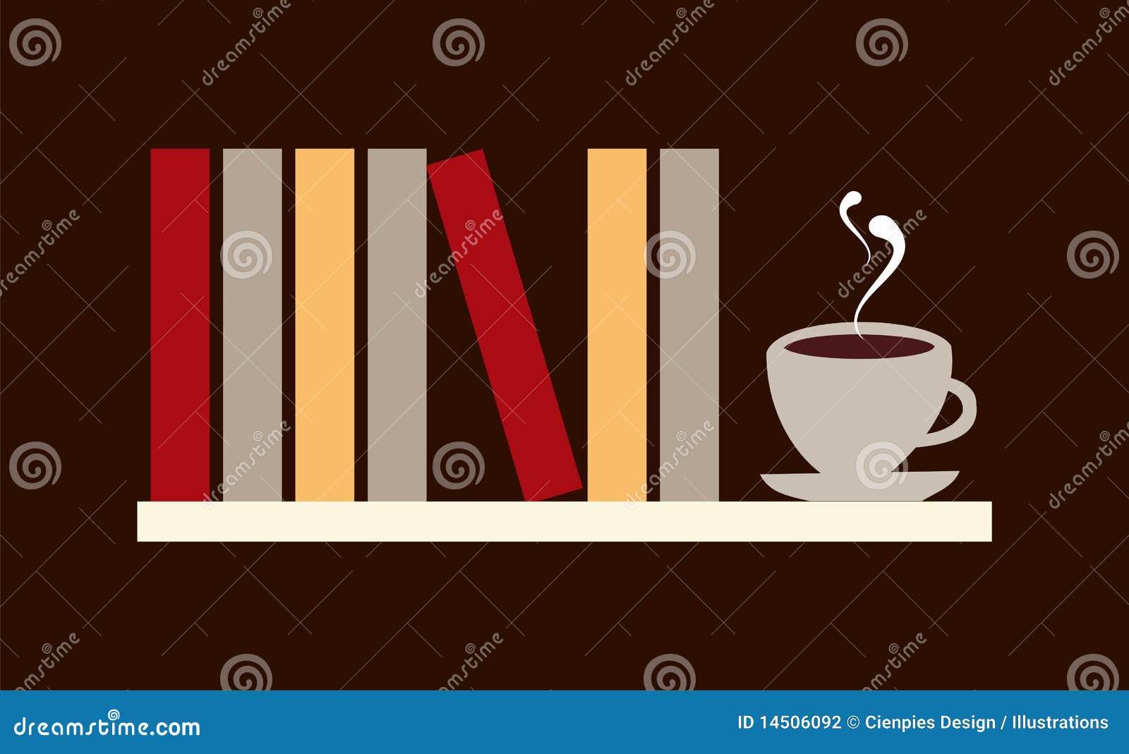 Rezerwuje kawową ilustrację