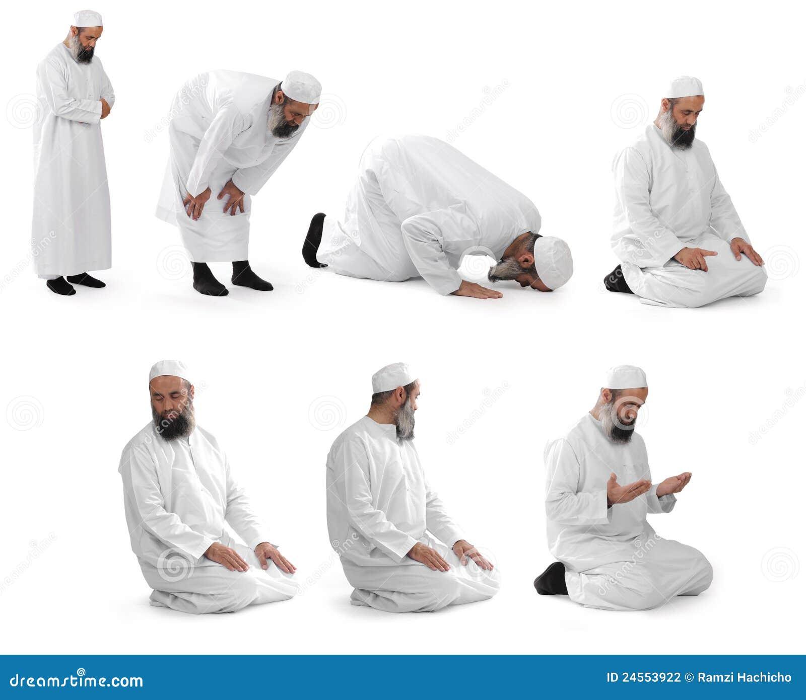 Rezo islámico hecho por el jeque musulmán