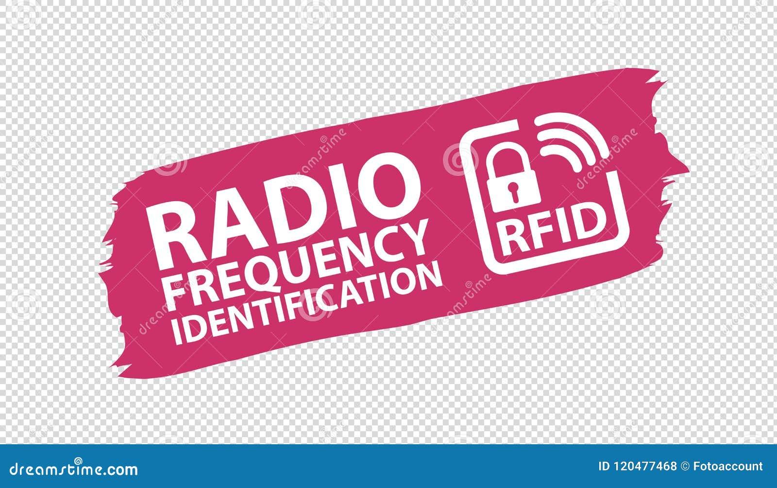 RFID Brushstroke Banner - Pink Vector Illustration - Isolated On Transparent Background