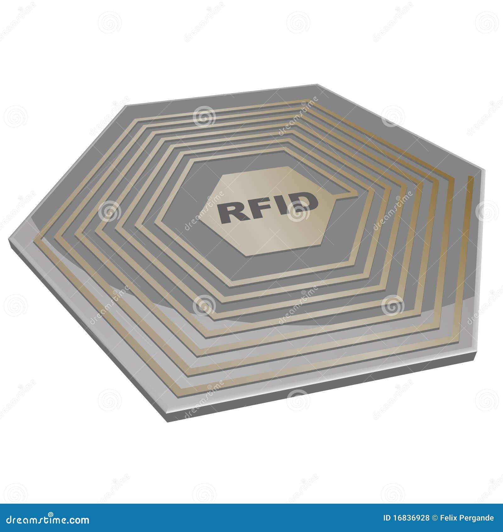 RFID chip stock vector  Illustration of laboratory