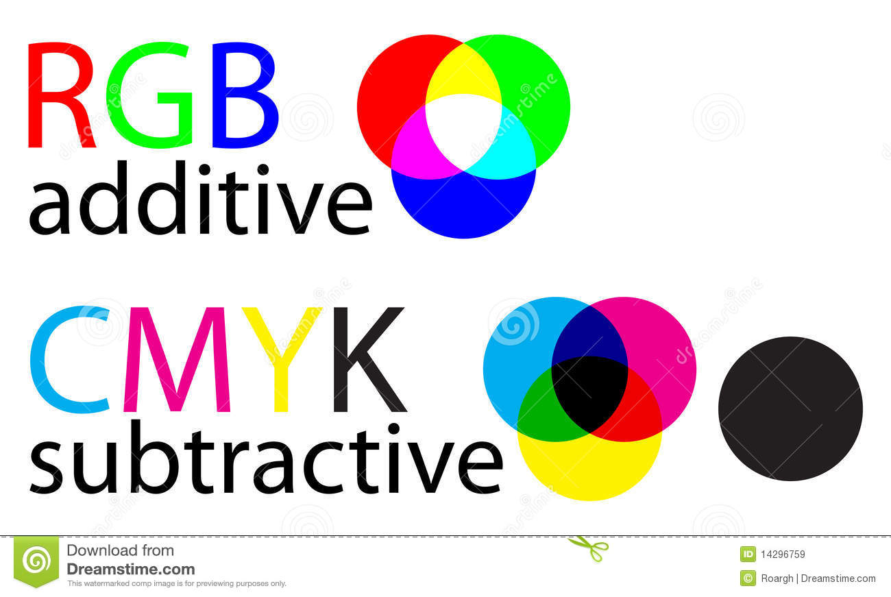 Rgb And Cmyk Stock Vector Illustration Of Black Moire 14296759