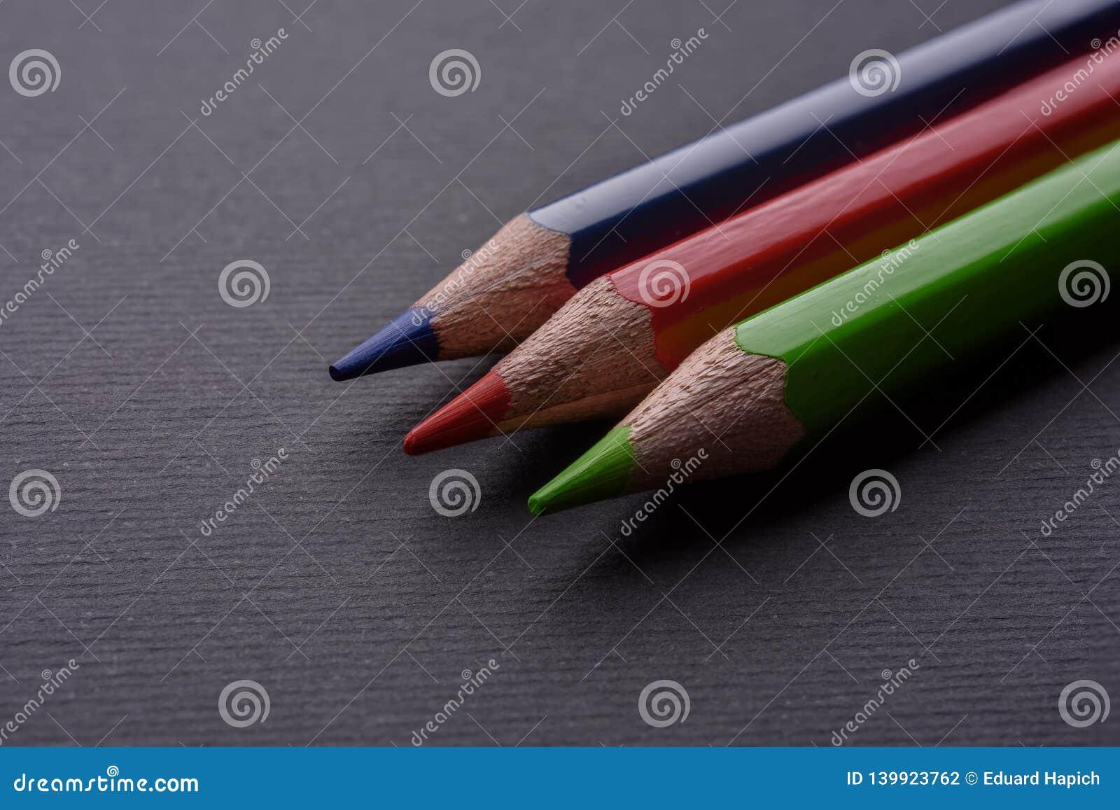Rgb de potloden van de kleur
