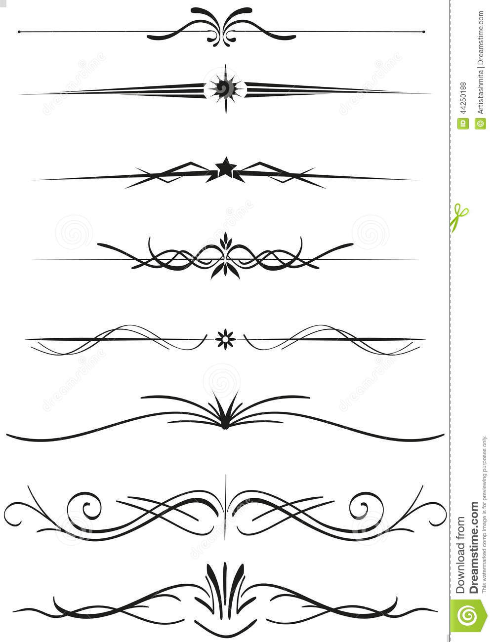 R gles de diviseurs des textes illustration de vecteur for A style text decoration