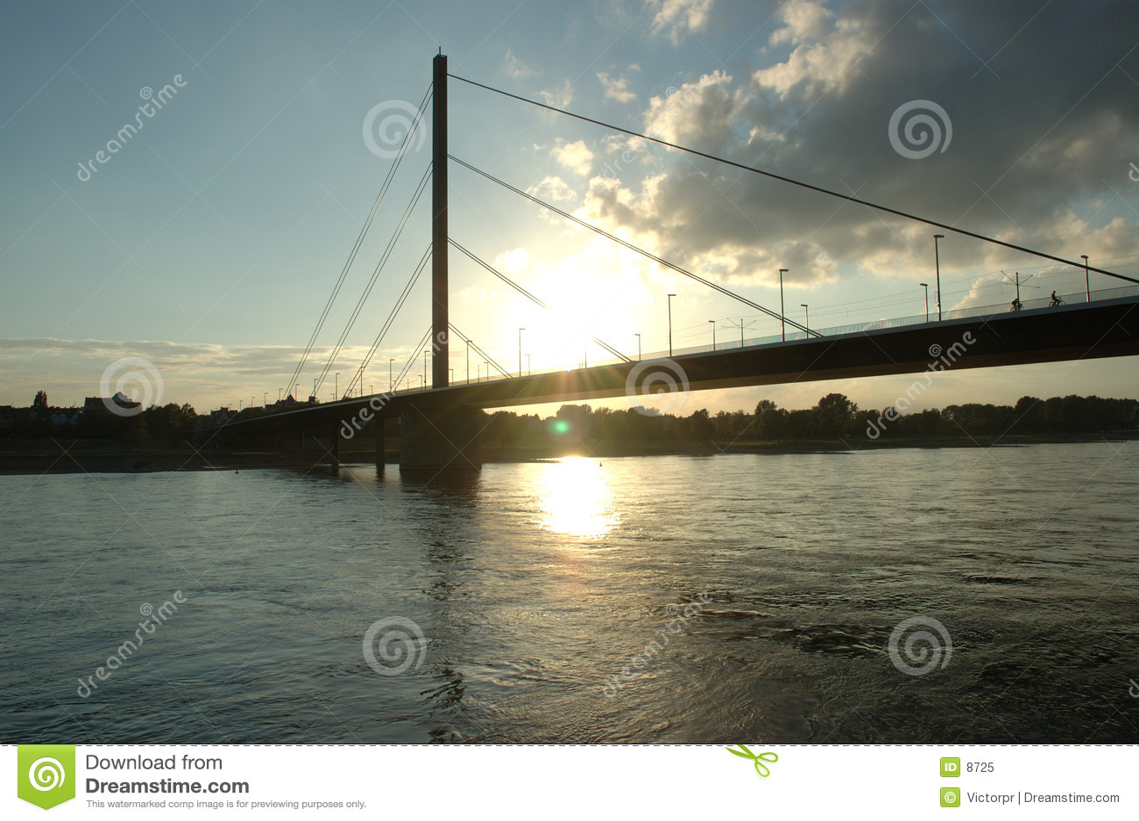 Rhein solnedgång