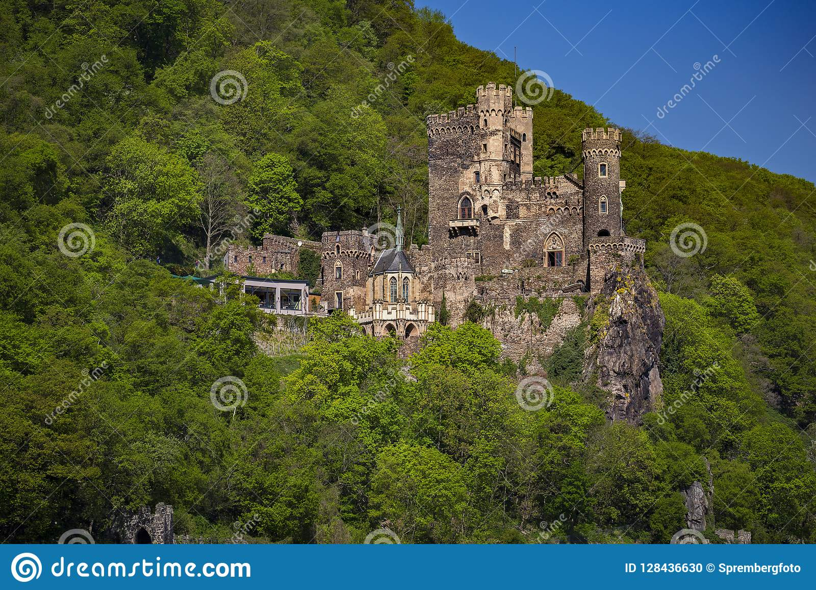 Rhein Stein Castle sur le Rhin moyen